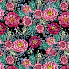 Winter Floral, Thanksgiving, Christmas flowers , Burgundy