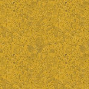 doodlegirls-mustard