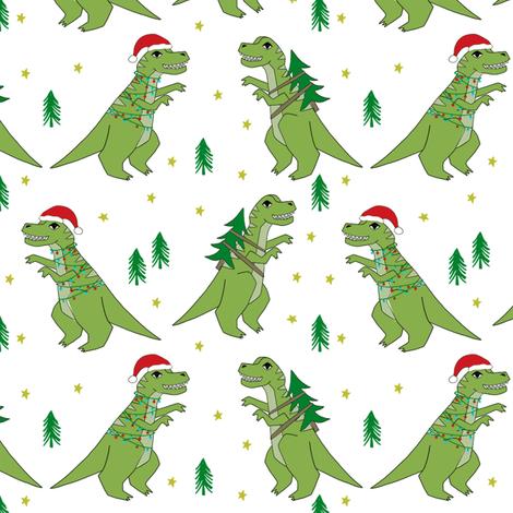 christmas fabric dinosaur christmas fabric tree rex t rex christmas funny - Funny Christmas Wrapping Paper