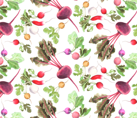 Beets & Radishes fabric by denise_ortakales on Spoonflower - custom fabric