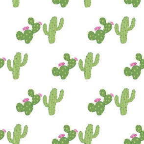 Green geometrical cacti pattern