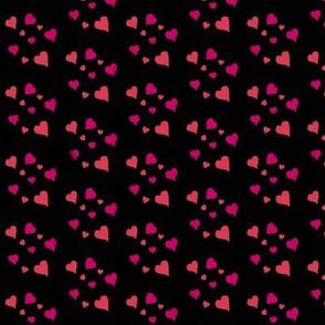 hearts on black