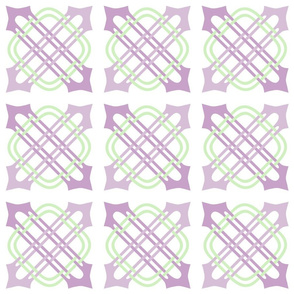 Merlins Knot Mauve Green White