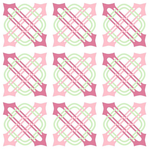 Merlins Knot Pinks Green White