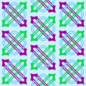 Merlins Knot Purple Green Blue 2