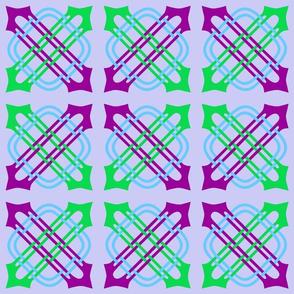Merlins Knot Purple Green Blue