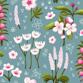 Painterly Spring Flowers