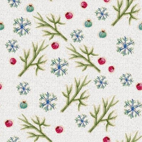 Berries and snowflakes