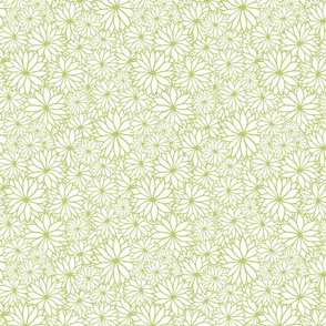 Green Floral Repeat Pattern