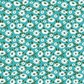Retro Turquoise Daisy