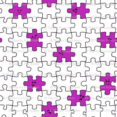 puzzled | purple