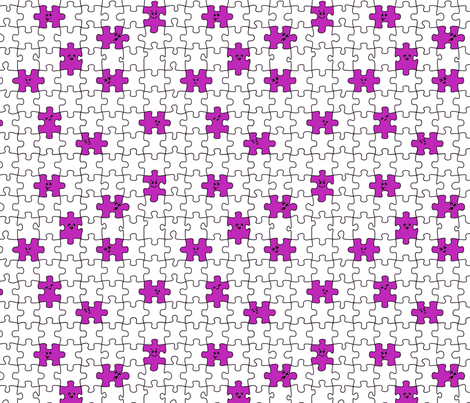 puzzled | purple fabric by handmadephd on Spoonflower - custom fabric