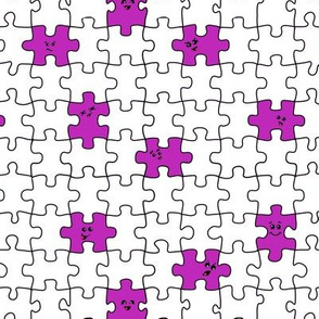 puzzled | purple
