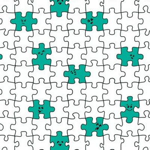 puzzled | teal
