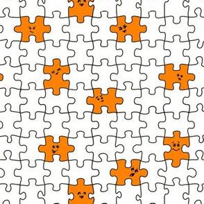 puzzled | orange