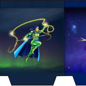 SUPER HERO MALES Tote 13 x 16