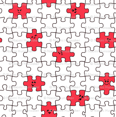 puzzled | red