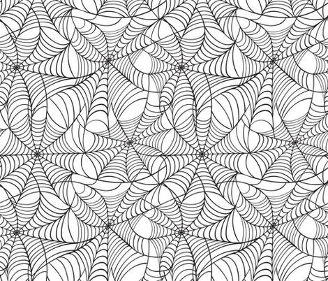 Spider Web Pattern fabric by elinorka on Spoonflower - custom fabric