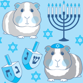 Hanukkah guinea pigs-on-blue
