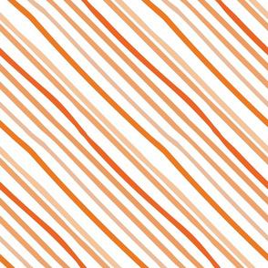 Pumpkin Chalk Diagonal Stripe