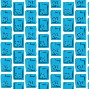 utah love | blue