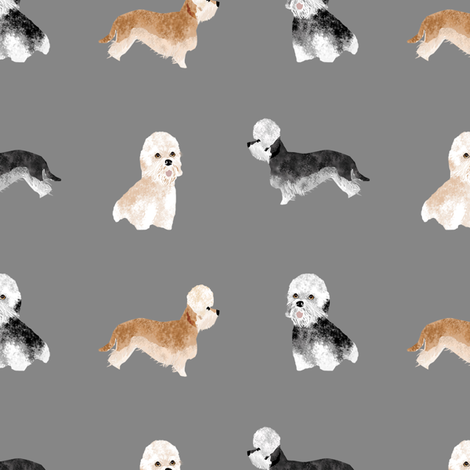 dandie dinmont terrier fabric - dandie dinmont dog fabric, cute dog fabric, dog  breed fabric, dog breed wallpaper, dandie dinmont gift wrap - grey fabric by petfriendly on Spoonflower - custom fabric