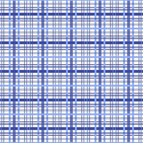 Blue Tattersall Plaid