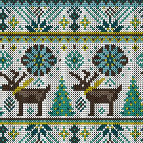 Festive Fair Isle - Cream