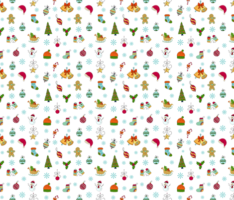 Christmas Sketches Smaller fabric by bags29 on Spoonflower - custom fabric