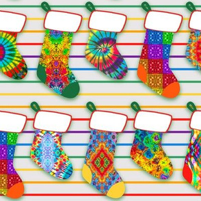 Rainbow Christmas Stockings