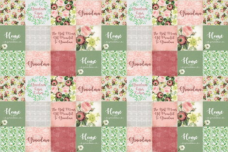 A Grandmother's Love - Sage Recolor fabric by lacklandacres on Spoonflower - custom fabric