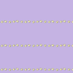little chicks on purple