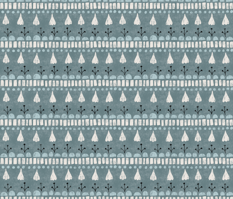 Beachy Boho Chic Stripe in Blue fabric by bexmorley on Spoonflower - custom fabric