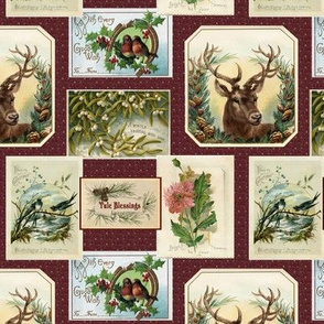 Victorian Postcards for Yule