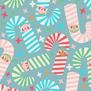 Candy Cane Kids Blue