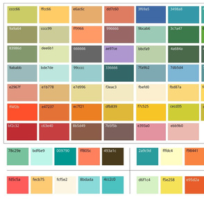 Color swatches 6