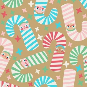 Candy Cane Kids Gold