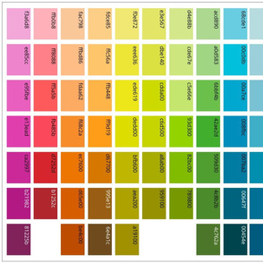 Color swatches 7