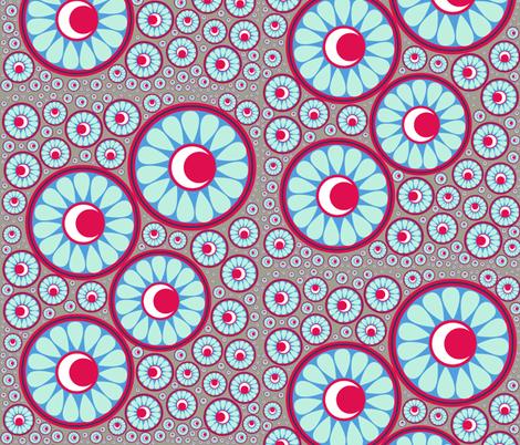 Celestial Jewels - small half drop fabric by dvodaydreamer on Spoonflower - custom fabric