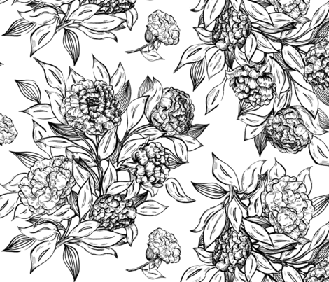Elegant Floral fabric by cindi_g on Spoonflower - custom fabric