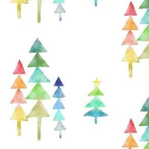 A Geometric Rainbow Christmas