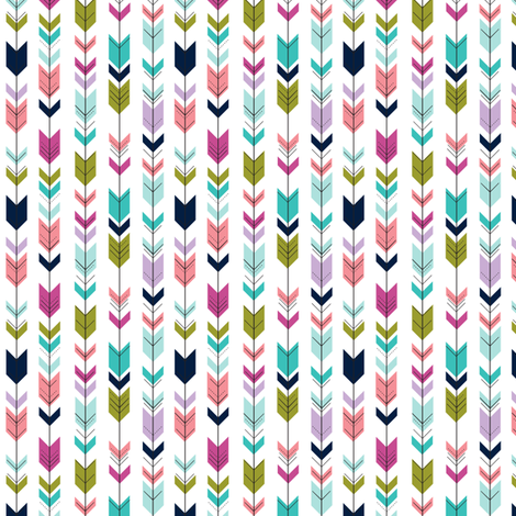 (micro scale) fletching arrows || good cheer collection C18BS fabric by littlearrowdesign on Spoonflower - custom fabric