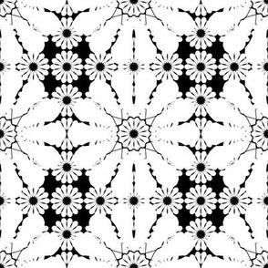 flowery geometrics in black & white