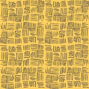 Chinoiserie Trellis co-ordinate Yellow/Black