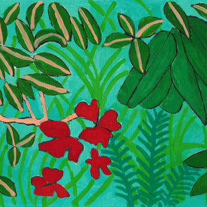 tropical plants goashce pattern