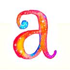 Cosmic- a - monogram fat quarter- pillow cover
