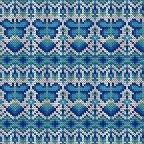 Fair Isle Butterflies, cobalt