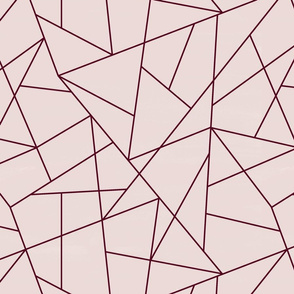 Blush and Burgundy Geometric Triangle Pattern K074