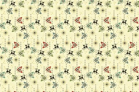 Atomi-Cat, Boomerang & Starburst Mobiles (Small Scale) fabric by studioxtine on Spoonflower - custom fabric