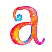 Cosmic- Alphabet - Monogramed Fat Quarter- For Pillow Covers!